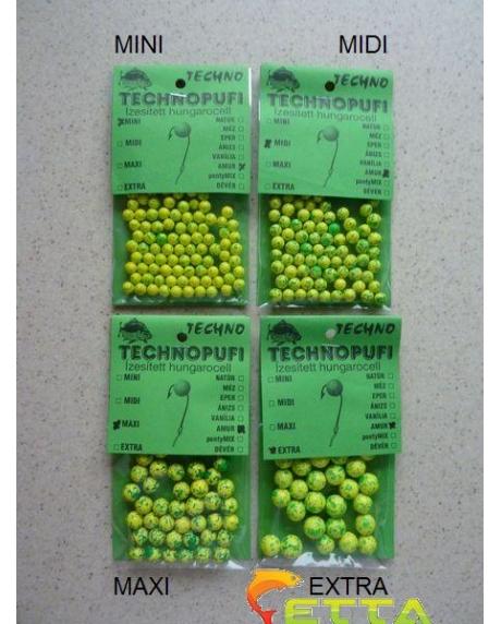 Technopufi Amur (verde+galben) midi