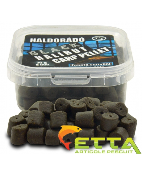 Black Halibut Carp Pellet Black Squid 70g 0