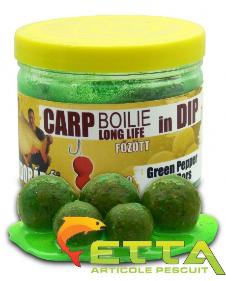 Carp Boilie In Dip Green Pepper 100g/16-20mm