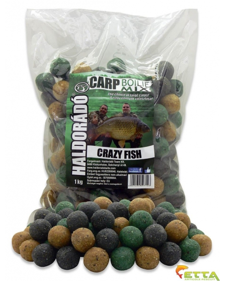Carp Boilie Mix Crazy Fish 1Kg/20mm