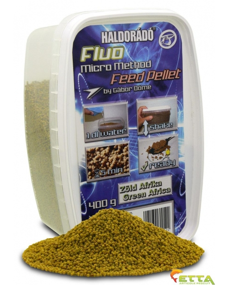 Fluo Micro Method Feed Pellet Green Afrika 400g 0